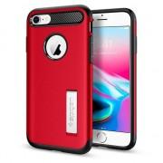 Spigen Etui Spigen Slim Armor pour iPhone 7 8 - Rouge Noir