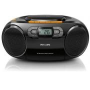 Micro Sistem Philips AZ328, Caseta, CD/MP3 Player (Negru)