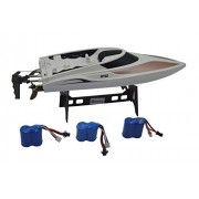 Blomiky TKKJ H102 Dual Hatches RC Racing Boat 2.4Ghz Remote Radio Controll Boats 4CH 20KM/H High Speed Extra 2 Battery H102