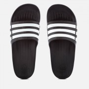 adidas Swim Duramo Slide Sandals - Core Black - UK 12 - Black/White