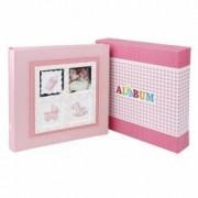 Album foto Baby Stories personalizabil 200 foto 10x15 cm slip-in notes roz