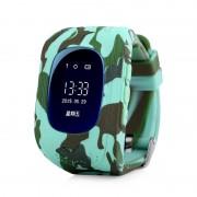 Ceas inteligent pentru copii WONLEX Q50 Blue Camo, cu GPS, telefon si monitorizare spion
