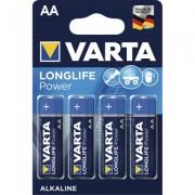 Baterii alcaline R6 Long Life Power AA 4 buc/blister Varta