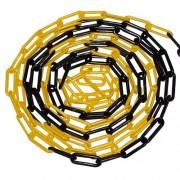 Černo-žlutý plastový označovací řetěz - délka 5 m