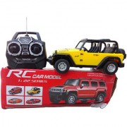 OH BABY BABY 3D LIGHT MUSICAL POWER WITH AUTOMATIC SENSOR YELLOW COLOR 'Remote Control' JEEP FOR YOUR KIDS SE-ET-18