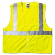 Glowear 8210z Class 2 Economy Vest, Polyester Mesh, Large/x-Large, Yellow