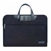 15,4 pouces Cartinoe Business Series Sac à bandoulière portatif portable Exquisite Zipper avec paquet d alimentation indépendant pour MacBook, Lenovo et autres ordinateurs portables, Taille interne: 35,0x24,0x3,0 cm (Noir)
