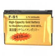 fa-S1 Bateria de repuesto 2430mAh para BlackBerry 9800/9810-dorado