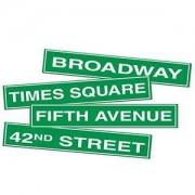 New York City skyltar pappfigurer - 4 st