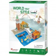Puzzle 3D Case traditionale din Italia, 130 piese