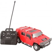 Fantasy India Plastic Remote Control Rechargeable Hummer Toy Car (Red, sz_hummerred(model)_1:24-01)