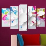 Декоративeн панел за стена с абстрактни флорални мотиви Vivid Home