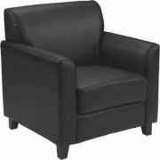Flash Furniture Leather Reception Chair - Black, 30.5Inch W x 29Inch D x 32.5Inch H, Model BT8271BK