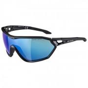 Alpina S-Way CM+ Ceramic Mirror S3 Occhiali da sole nero/blu/grigio