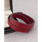 Dare by Voylla Solid Red Wraparound Leather Trend Bracelet