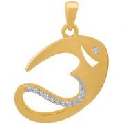 Dare by Voylla Lord Shiva Gold Plated OM Pendant from Spiritual Saga