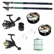 Pachet de pescuit cu 2 lansete eastshark de 3 6m doua mulinete si accesorii