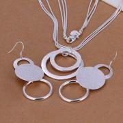Set placat argint colier pandantiv si cercei
