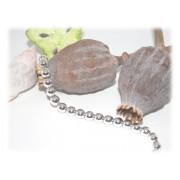 Bracelet Perles 8 mm Argent