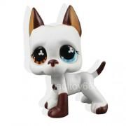 NP NP@ White Brown Great Dane Dog Puppy Blue Eye TOy +gift box