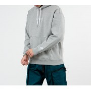 Nike Sportswear Just Do It Pullover Fleece Heavyweight Hoodie Dark Grey Heather/ White