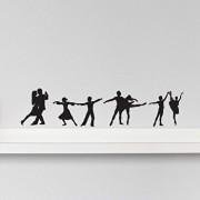 Sticker decorativ de perete Sticky, 260CKY1061, Negru