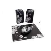 Boxe MODECOM MC-STARTER ART (negru) [ 2.0 stereo ]