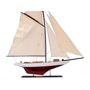 "Handcrafted Nautical Decor Decorative Columbia Model Sailing Yacht 35"" Limited Model Ship Nautical Home Decorating Ideas Toy Figure"