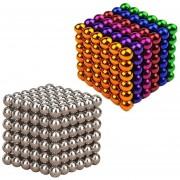 Louiwill Bolas Magnéticas Para Juguetes, Pawaca Bolas Magnéticas Pequeñas De Colores Y Plata Para Niños Con Creat Intelligence (Paquete De 432 Y 5 Mm, Colorido Y Fragmentado)