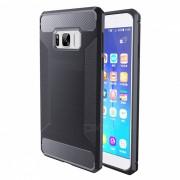 De alambre de fibra optica TPU para Samsung Galaxy S8 Plus - Gris oscuro