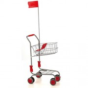 Erzi 40 X 30 60 cm Pretend Play Wooden Grocery Shop Merchandize Plastic Shopping Cart