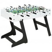 vidaXL Folding Football Table 121x61x80 cm White