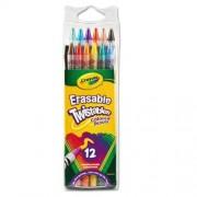 Set Crayola 12 creioane colorate retractabile