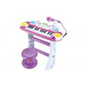 Orga multifunctionala cu microfon si scaunel pentru copii
