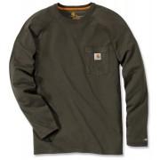 Carhartt Force Cotton Camisa de manga larga Verde Oscuro M
