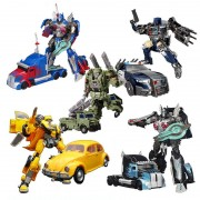Transformation Action Toy H6001 Series Bots Car Figures Toy Black Mamba KO Truck Optimus Prime Robot Model Toy Gifts For Kids