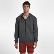 Sweatà capuche en tissu Fleece Hurley Crone Hooded Full-Zip pour Homme - Noir