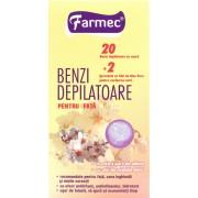 Farmec Benzi depilatoare pentru fata (20 benzi)