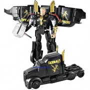 Clastik Transformation Deformation Car Truck Avengers Age of Ultron Action Figure Transformers Toy (Black)