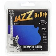 Dr Thomastik BB114 Jazz Guitar Strings: Jazz Bebop Series 6 String Set - Pure Nickel Round Wounds E B G D A E Set