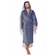 PECHE MONNAIE Махровый мужской халат удлиненного кроя серого цвета PECHE MONNAIE №927 Серый