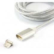Cavo Magnetico di Ricarica USB a Micro USB 1m Bianco