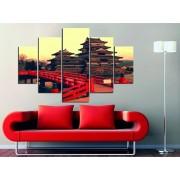 Tablou decorativ multicanvas Miracle, 5 Piese, Asia, 236MIR1927, Multicolor