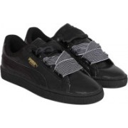 Puma Basket Heart Wn s Sneakers For Women(Black)