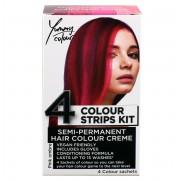 Vopsea de păr STAR GAZER - Yummy Colour 4 Color Strips Kit - Pink - SGS234Ombr
