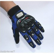Motorcycle Bike Pro-Biker Hand Riding ProBiker Bike Gloves glove FULL - L Blue