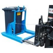 Kukaürítő szemetes borító adapter 240 literes kukához. Targonca villára húzható szemetes kiöntő szerkezet