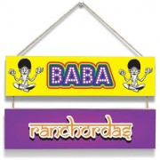 100yellow All Baba Ranchodas Print Door Hanging Board Plaque Sign For Wall Dcor (7 X 12 Inch)
