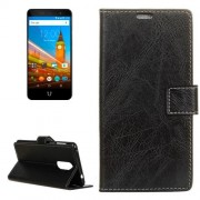 For Wileyfox Swift 2 Retro Crazy Horse Texture Horizontal Flip Leather Case with Holder & Card Slots & Wallet & Photo Frame (Black)