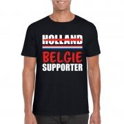 Bellatio Decorations Holland supporter die overloopt naar Belgie shirt zwart heren L - Feestshirts